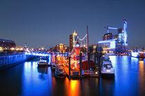 Hamburg in Blau von Michael Krämer