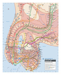 New York Subway Map, 2000 by Veit Schuetz