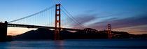 Golden Gate Bridge zur Blauen Stunde von Ulf Jungjohann