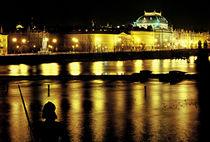 Czech National Theater by night by Jan Prerovsky