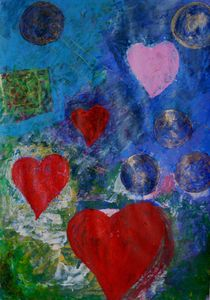 Floating Hearts In Universe von lydia
