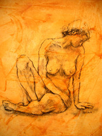 Sitzender weiblicher Akt by alfons niex