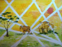 Elefanten auf der Durchreise von Ka Wegner