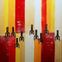 Sit In - Acrylmalerei von Sa Su