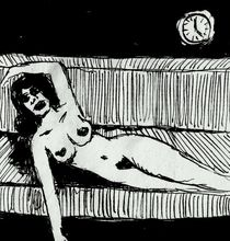 Akt auf dem Sofa by Wildis Streng