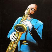 der Saxophonist by Karin Stein