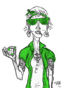 hipster with extra green von Sarah Haskins