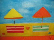 Sonnenschirme am Strand von Anne Rösner-Langener