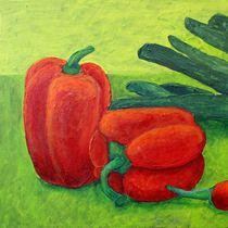 Stilleben mit Gemüse Triptychon Teil 1 - Paprika by Andrea Meyer
