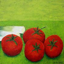 Stilleben mit Gemüse Triptychon Teil 3 -  Tomaten by Andrea Meyer