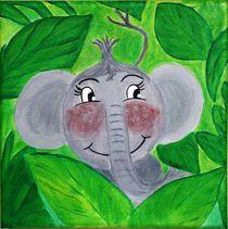 Kinderzimmer-Dschungelserie Elefant von Petra Koob