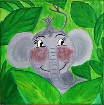 Kinderzimmer-Dschungelserie Elefant by Petra Koob