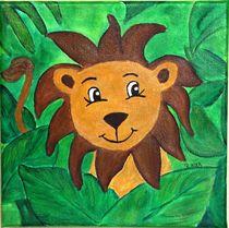 Kinderzimmer-Dschungelserie Löwe by Petra Koob