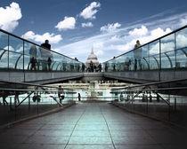 Millennium Bridge von Städtecollagen Lehmann