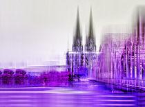 Köln Skyline  by Städtecollagen Lehmann