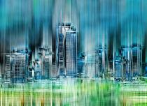 Skyline Frankfurt  von Städtecollagen Lehmann