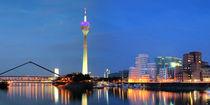 Düsseldorf Skyline - Nacht von Städtecollagen Lehmann
