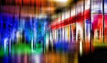 Glittering Nightlife - Düsseldorf von Städtecollagen Lehmann