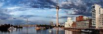 Skyline Düsseldorf - Fraktal by Städtecollagen Lehmann