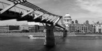 MILLENNIUM BRIDGE - sw von Städtecollagen Lehmann