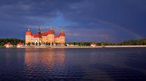Moritzburg unter einem Regenbogen by Wolfgang Dufner