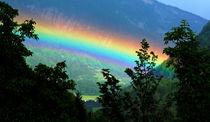 Regenbogen in den Dolomiten by Wolfgang Dufner