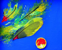 BLUE IDEA - Sibylles Papagei by Monika Nelting