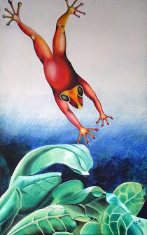 Frosch-Sprung von Ilona Metscher