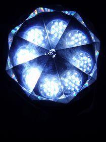 Blaues Lichtmandala von Jürgen Jahn