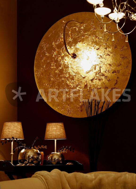 goldene lampe fotografie als poster und kunstdruck von. Black Bedroom Furniture Sets. Home Design Ideas
