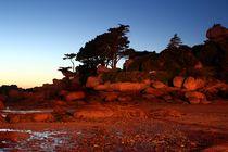 Frankreich - Bretagne Granitküste - Nachtaufnahme von Frank Seidel