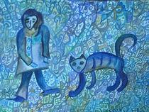Katze und Wanderer by Elena Beresnjak