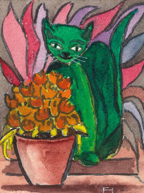 The green cat von Norbert Hergl
