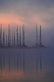 Bootsanleger am Morgen by Jana Behr