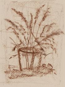 Gräser im Glas von Heike Nedo