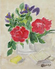 Pfingstrosen in der Vase  von Heike Nedo