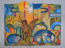 Tiere im Wald im Stil von Franz Marc by Heike Nedo