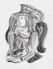 Dame mit Hut - die Gedanken sind frei by Heike Nedo