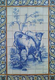 Fliesenbild aus Lissabon von Heike Nedo