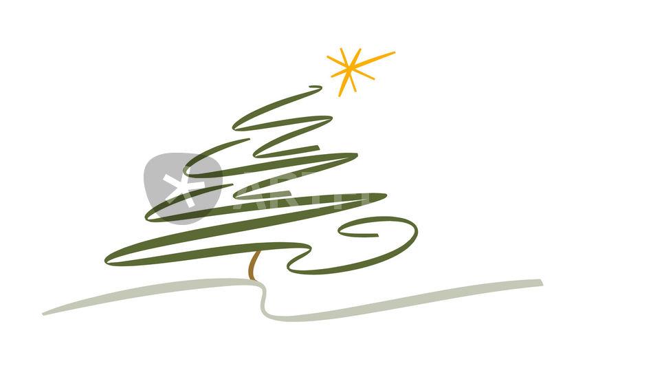 Weihnachtsbaum grafik illustration als poster und kunstdruck von michaela steininger bestellen - Weihnachtsbaum modern ...