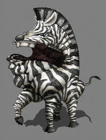 Zareb, the Guardian of the Zebras (Sketch) by Leon Li-Aun Sooi