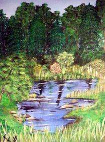 Teich im Wald von Kathrin Körner