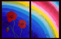 Regenbogen mit Mohnblumen von anoreng