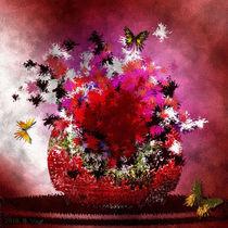 Blumen in rot. von Bernd Vagt