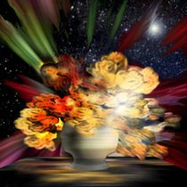 Flowers and stars.(Still life) by Bernd Vagt