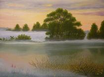 Morgennebel am See von Jürg Meyerholz