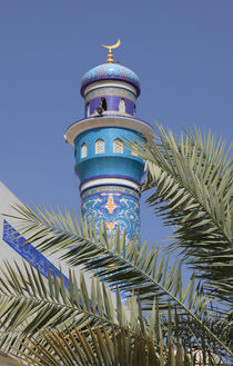 Minarett mit Dattelpalme by Willy Matheisl