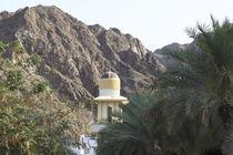Minarett im Hadschar-Gebirge, Sultanat Oman, Asien von Willy Matheisl