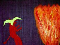 Teufel am Fegefeuer von artmagic