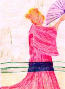 Frau mit Fächer by artmagic